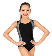 Girls Shine Double Strap Tank Leotard