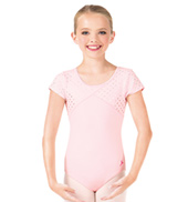 Girls Sweet Hearts Short Sleeve Leotard