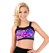 Girls Hearts Print Sweetheart Tank Crop Top