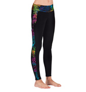 Girls Palm Tree Insert Legging
