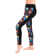 Girls Tattoo Rose Front Panel Legging