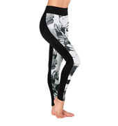 Adult Black & White Swirl Front Panel Legging
