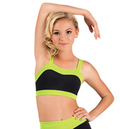 Girls Color Block Sweetheart Tank Crop Top