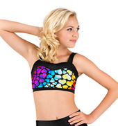 Girls Rainbow Heart Sweetheart Tank Crop Top