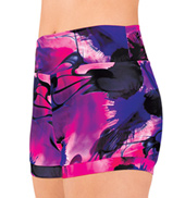 Adult Pink Swirl Banded Leg Dance Shorts