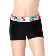 Girls Multi Floral Waistband Dance Shorts