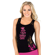 Adult Dont Keep Calm Tank Top with Lace Inserts