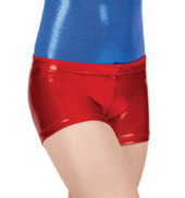 Child Gymnastic Basic Metallic Dance Short