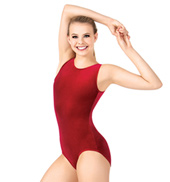Adult Gymnastic Basic Velvet Tank Leotard