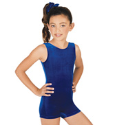 Child Gymnastic Basic Velvet Biketard