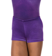 Child Gymnastic Velvet Dance Short