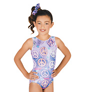 Child Gymnastic Glitter Sublimated Tank Leotard