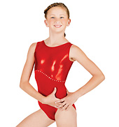 Child Gymnastic Rhinestone Tank Leotard