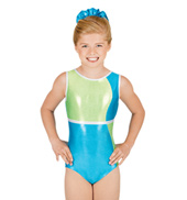 Child Gymnastic Color Block Tank Leotard