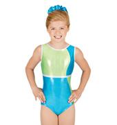 Child Gymnastic Color Block Tank Leotard
