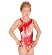 Child Gymnastic One Shoulder Leotard