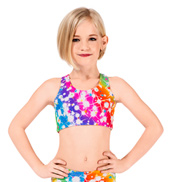 Child Cosmos Gymnastic Racer Back Bra Top