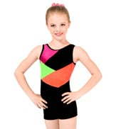 Child Stardust Color Block Gymnastic Biketard