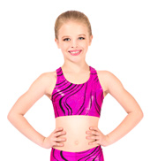 Child Adventurous Gymnastic Racer Back Bra Top