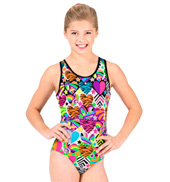 Child Hearts & Stars Gymnastic Racer Back Leotard