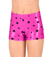 Child Flocked Star Metallic Shorts