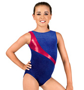 Child Shimmery Velvet Tank Leotard