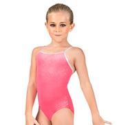 Child Shimmery Velvet Camisole Leotard