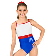 Child Camisole Velvet and Metallic Leotard