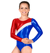 Child Metallic Long Sleeve Swirl Leotard