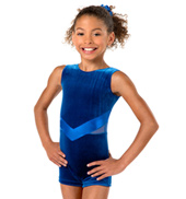 Girls Velvet Tank Biketard
