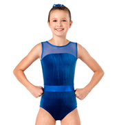Girls Velvet Tank Leotard