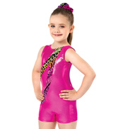Girls Jungle Mania Gymnastics Tank Biketard