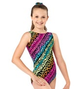 Girls Jungle Mania Gymnastics Tank Leotard
