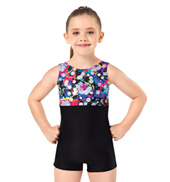 Child and Toddler Hologram Tank Gymnastics Biketard