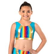 Girls Pixel Pop Tank Bra Top