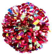 Custom Two-Tone Lazer & Metallic Pom Pom