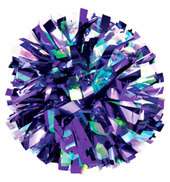 Custom Two-Tone Iris & Metallic Pom Pom