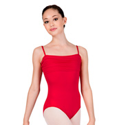 Adult Gala Camisole Leotard with Pleating