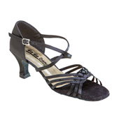Ladies Latin/Rhythm Ballroom Shoe w/2.5 Inch Heel