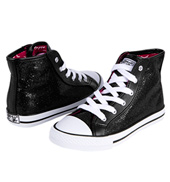 Child Glitter High Top Sneaker