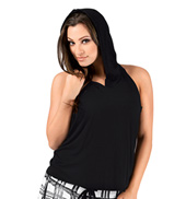 Adult Backless Hoodie Tank Top