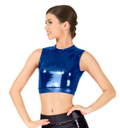 Adult Sequin Crop Top