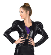 Adult/Girls Metallic Puff Sleeve Jacket