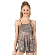 Adult/Girls Camisole Sequin Lace Baby Doll Top & Shorts Set