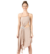 Adult Sequin Halter Dress with Attached Shorts