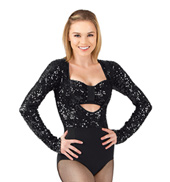Adult Sequin Long Sleeve Leotard & Matching Bra