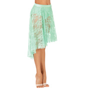 Girls High-Low Lace Skirt
