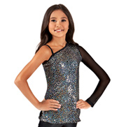 Girls Sequin Asymmetrical Tunic Top