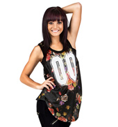 Adult Floral Printed Mesh Tank Jersey