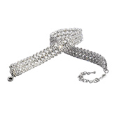 3-Row Crystal 11 Long Choker